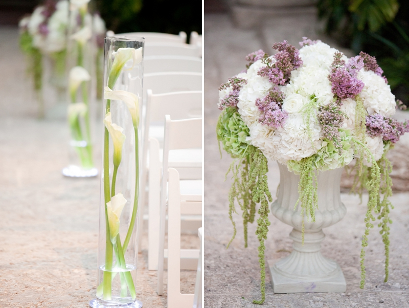 Glamorous Purple & White Miami Wedding At The Vizcaya via TheELD.com