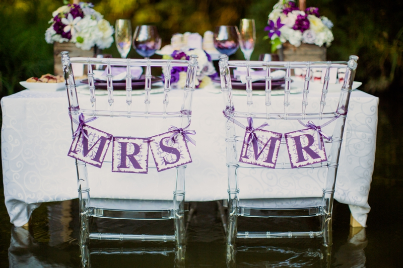 Purple Ideas For Weddings: Purple & White Rustic & Romantic Wedding Inspiration
