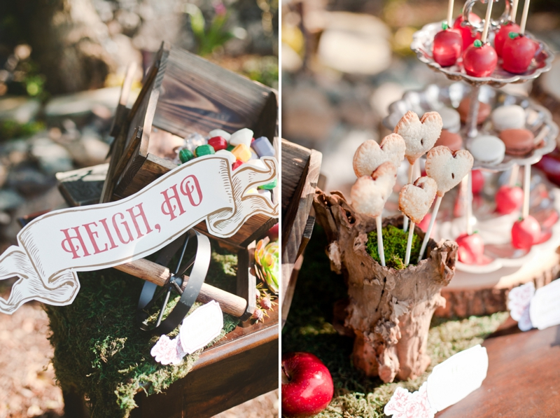Rustic Snow White Wedding Inspiration via TheELD.com