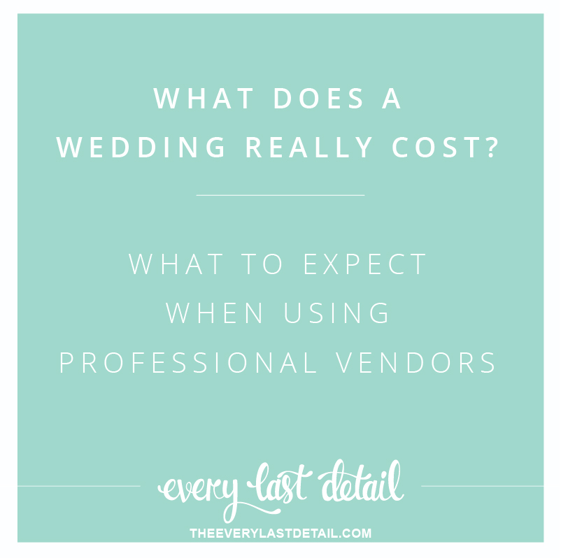 What Does A Wedding Cost? What To Expect When Using Professional Vendors via TheELD.com