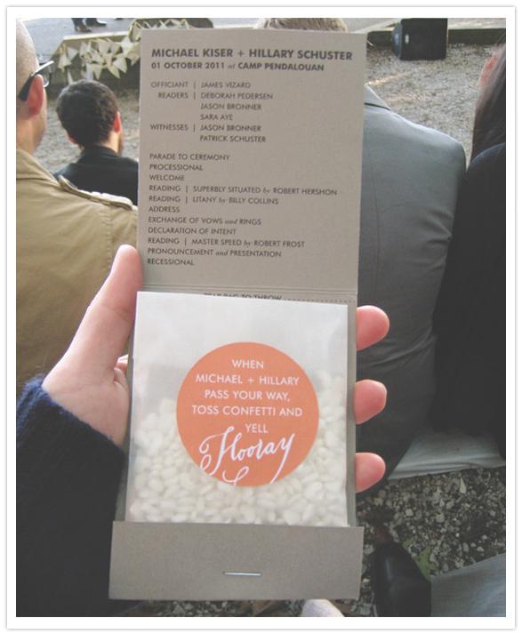 Detail To Love: Confetti Wedding Programs! via TheELD.com