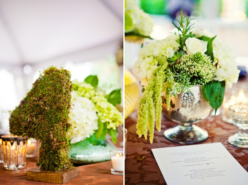 Modern, Elegant Green & Brown Fall Wedding via TheELD.com