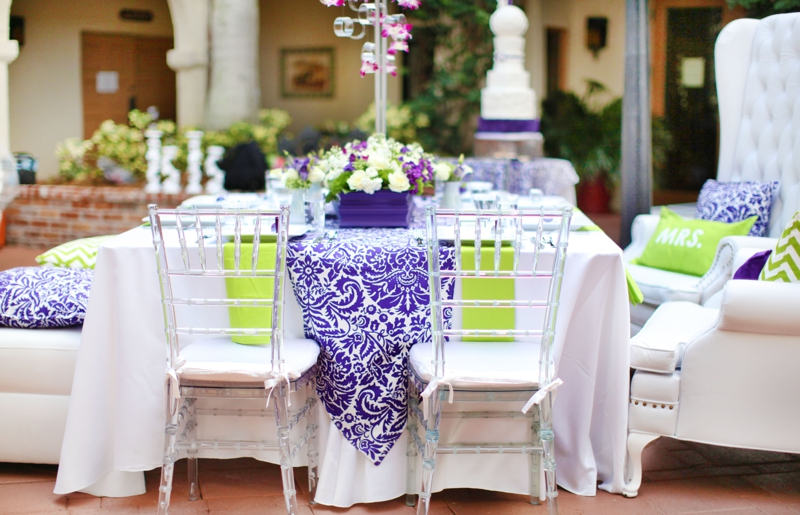 Modern purple green wedding inspiration every last detail modern baroque purple green wedding inspiration via theeld junglespirit