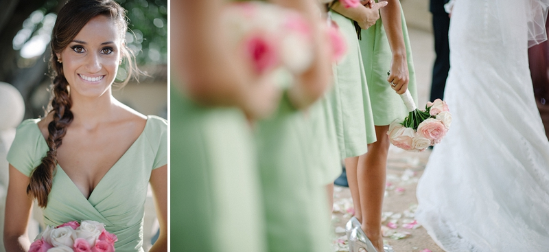 Pale Pink and Mint Green Florida Wedding via TheELD.com