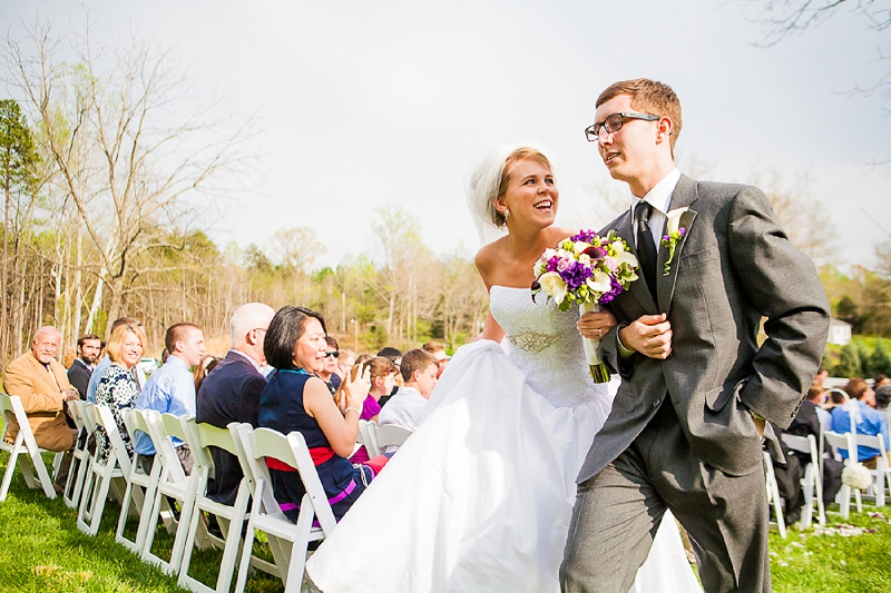 Vintage Purple & Green North Carolina Wedding via TheELD.com