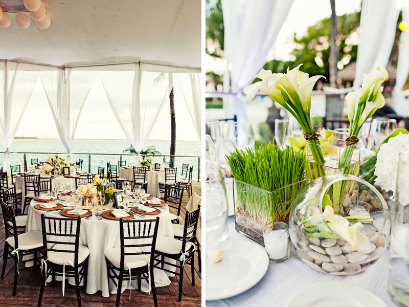 Chic & Modern Green & White Miami Wedding via TheELD.com