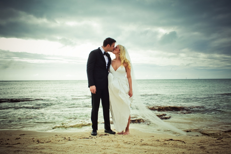 Eclectic Pink, Silver & Gold Key West Wedding via TheELD.com