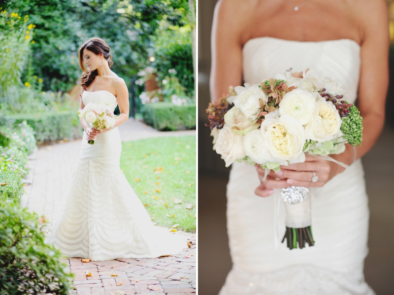 Elegant Blush & Gold North Carolina Wedding via TheELD.com