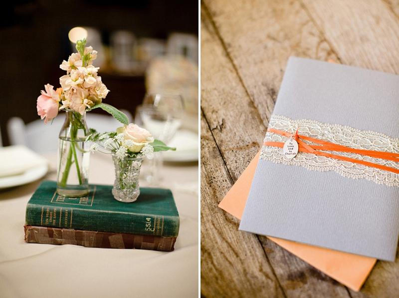 Rustic Orange & Gray California Vineyard Wedding via TheELD.com