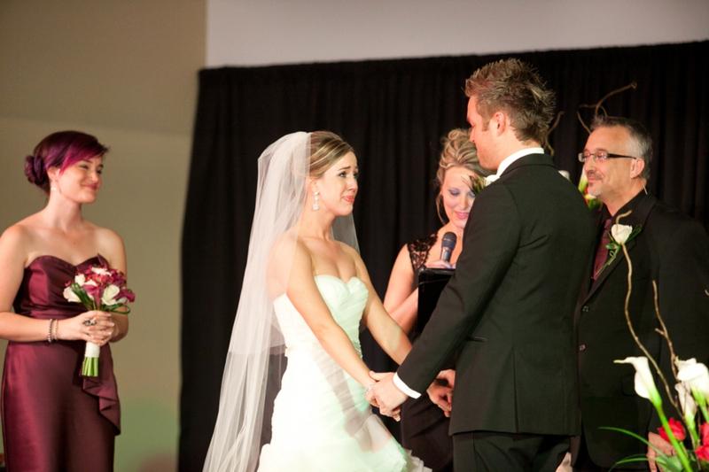 Elegant Eggplant & Navy North Carolina Wedding via TheELD.com