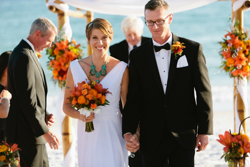 An Intimate Fall Inspired Beach Wedding Via TheELD
