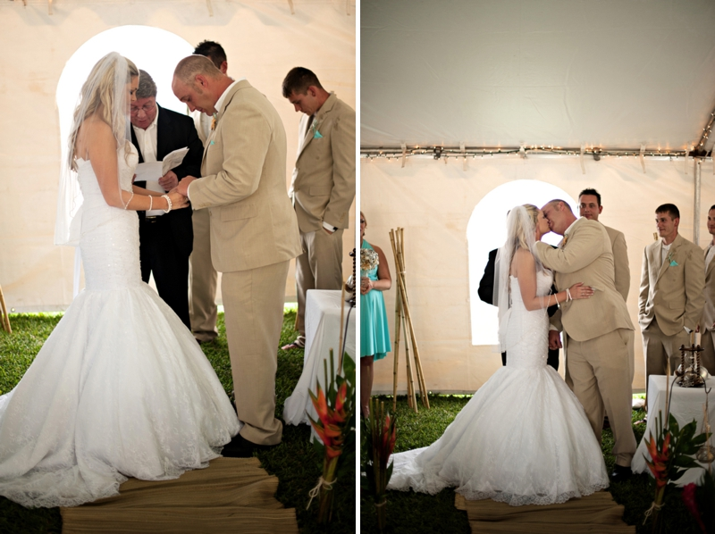 Aqua Florida Beach Wedding via TheELD.com