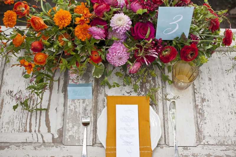 Colorful Fall Wedding Inspiration  via TheELD.com