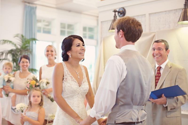 Pink & Peach Vintage & Rustic Wedding via TheELD.com