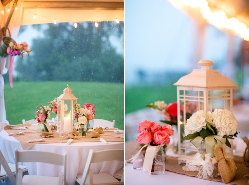 A Pink, Mint, and Burlap Wedding via TheELD.com