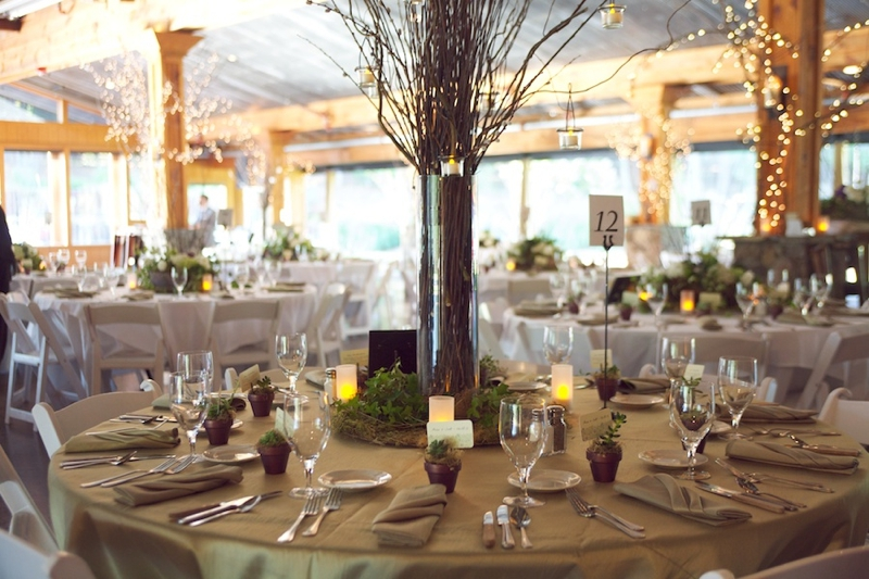 Purple & Green Rustic North Carolina Wedding  via TheELD.com