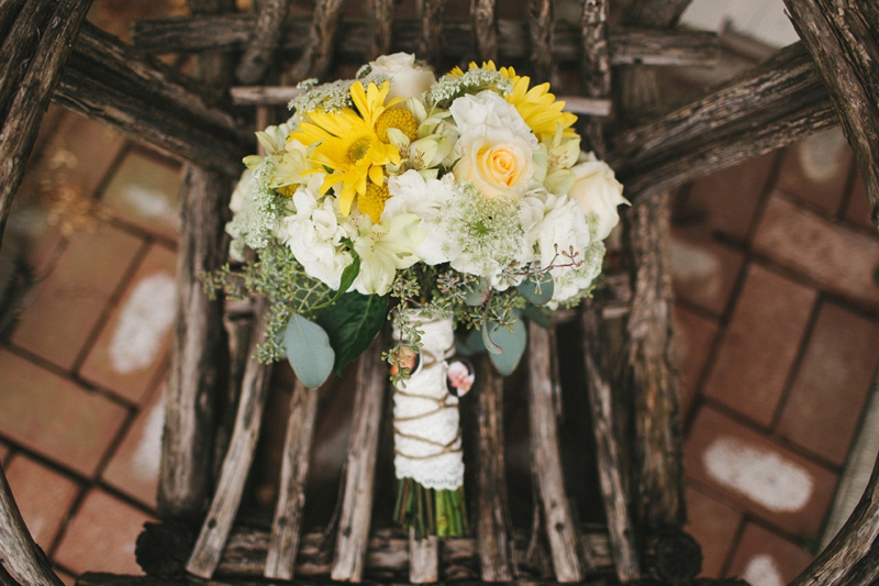 Yellow & Navy Rustic Ohio Wedding By BRAUNphotography via TheELD.com