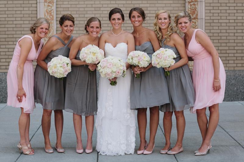 Romantic Pink & Gray Michigan Ballroom Wedding - Every Last Detail