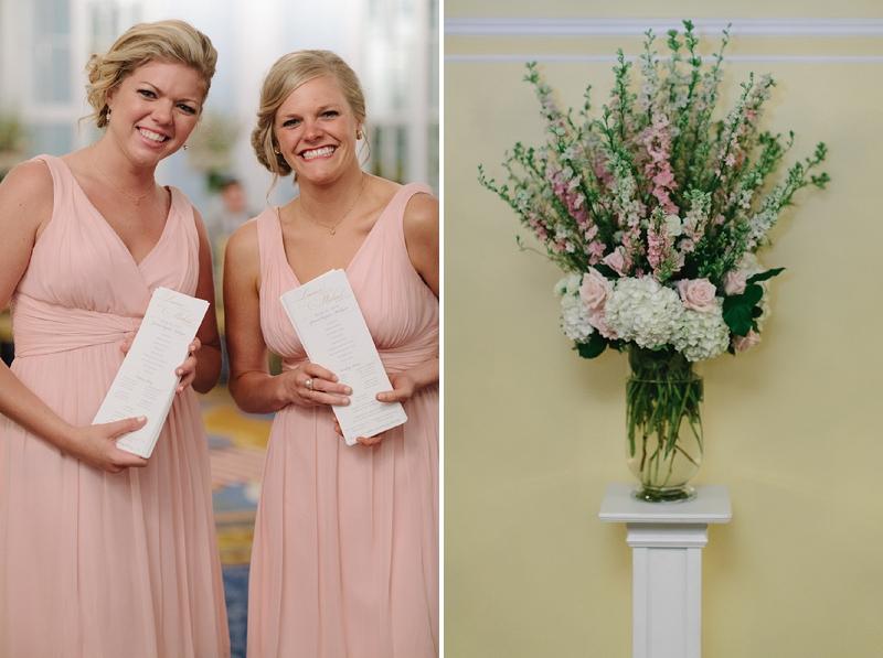 Romantic Pink & Gray Michigan Ballroom Wedding via TheELD.com