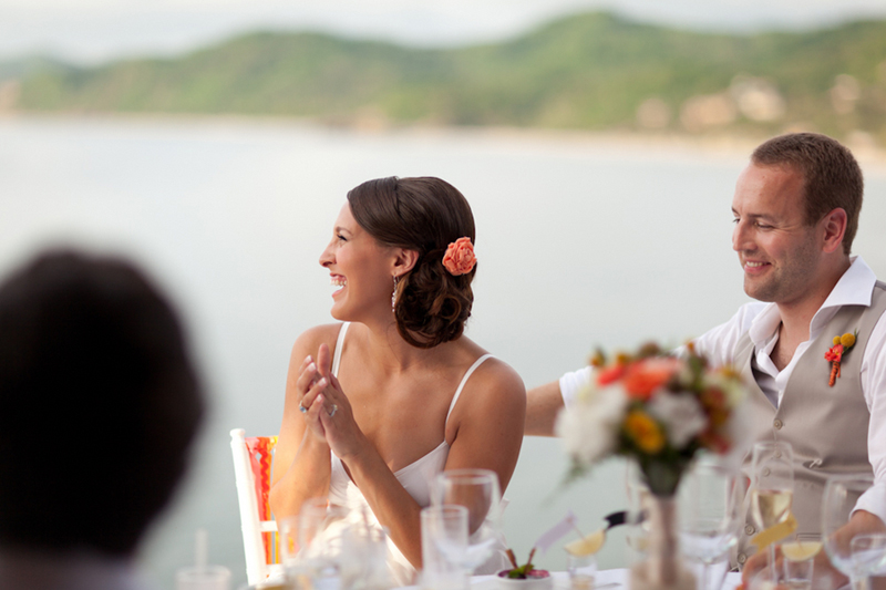 Yellow, Red, and Orange Mexico Destination Wedding via TheELD.com