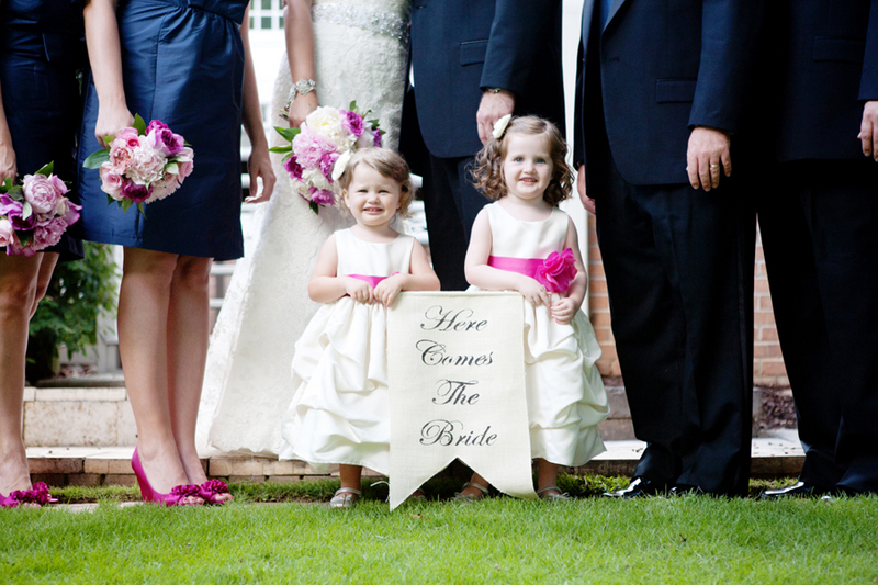 Hot Pink and Navy Georgia Wedding via TheELD.com