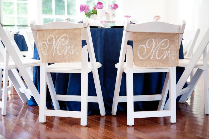 Detail To Love: Burlap Mr & Mrs Signs via TheELD.com