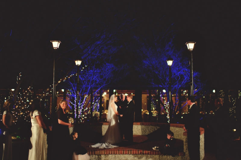 Elegant Silver and White Biltmore Estate Wedding via TheELD.com