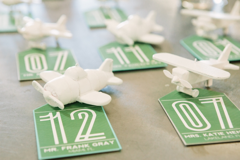 Emerald Green Aviation Inspired Wedding Inspiration via TheELD.com