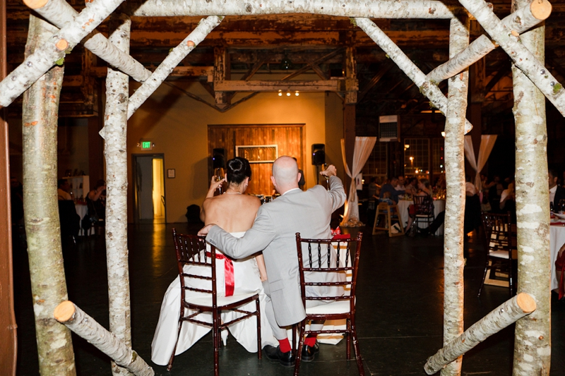 Red & White 1960s Inspired Seattle Wedding via TheELD.com