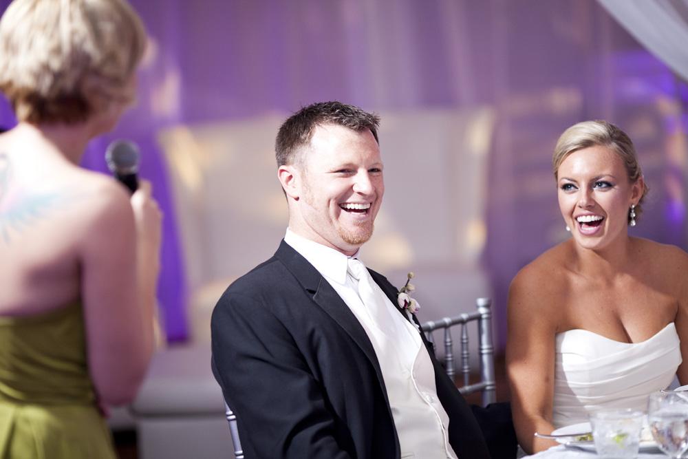 Purple and Green Modern Miami Wedding via TheELD.com