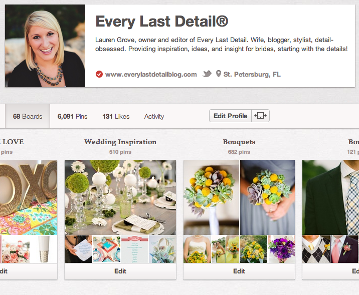 Thursday Tips: Using Pinterest To Plan Your Wedding  via TheELD.com