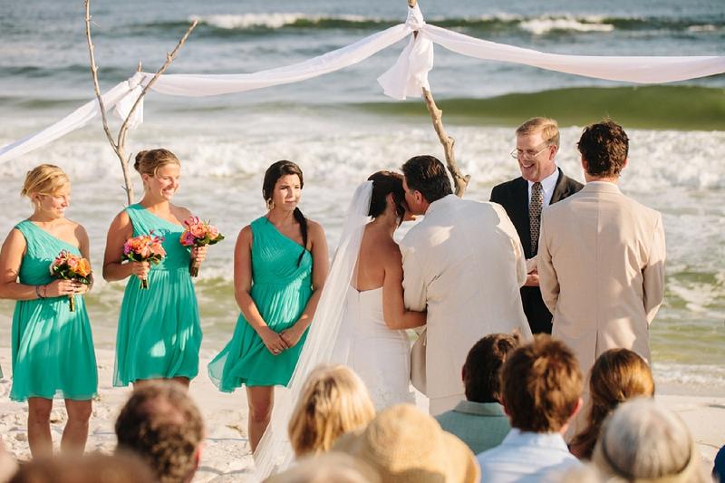 9ef92b4b25 ... Aqua & Orange Florida Beach Wedding via TheELD.com ...
