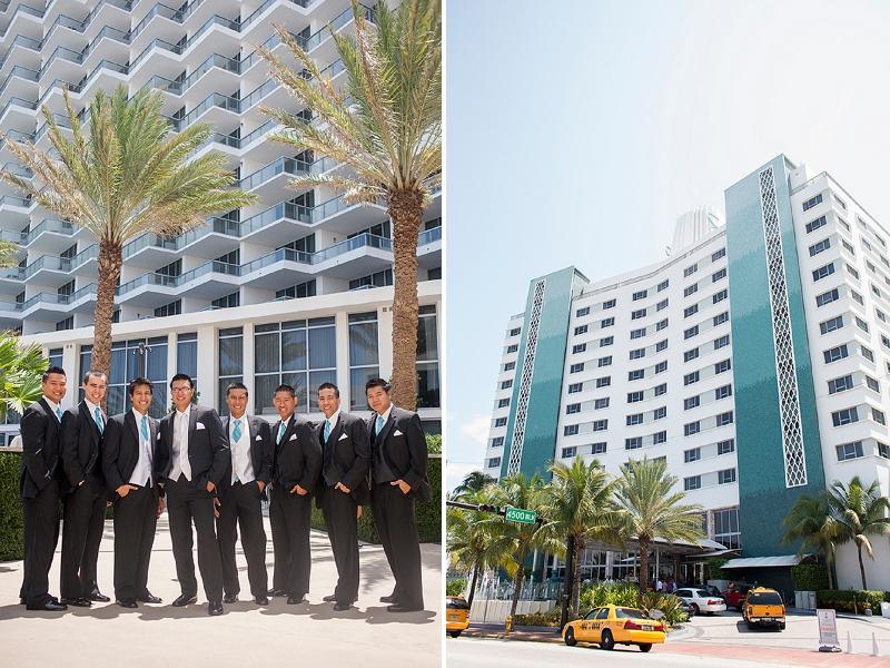 Modern Aqua & White Miami Beach Wedding via TheELD.com
