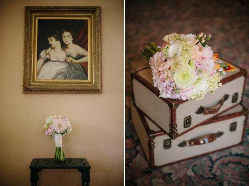Pink & Yellow Vintage Rustic San Diego Wedding via TheELD.com