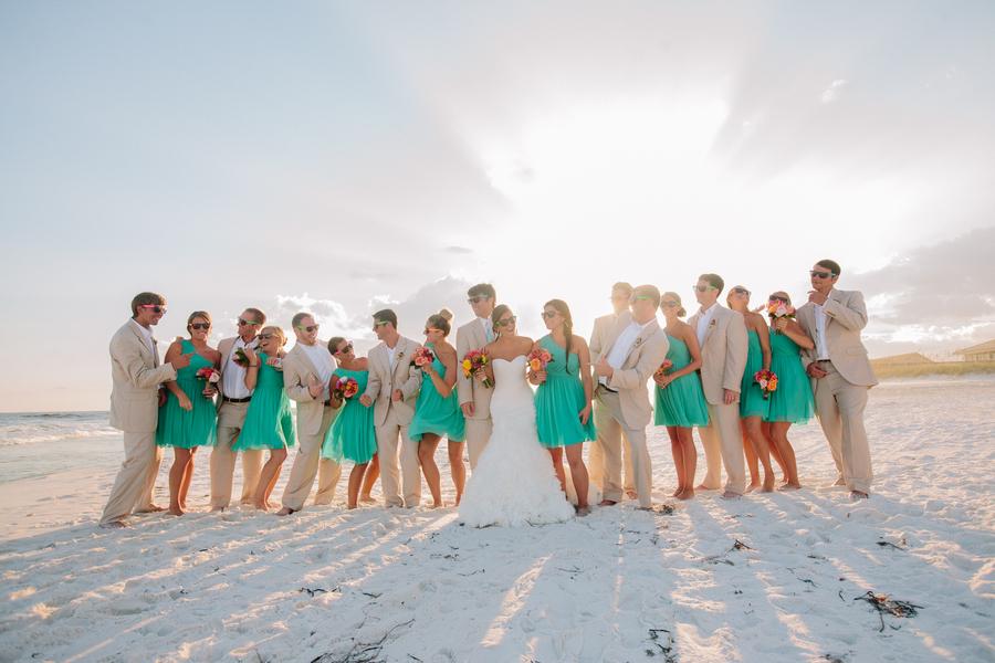 6eea6fb565 Aqua & Orange Florida Beach Wedding - Every Last Detail