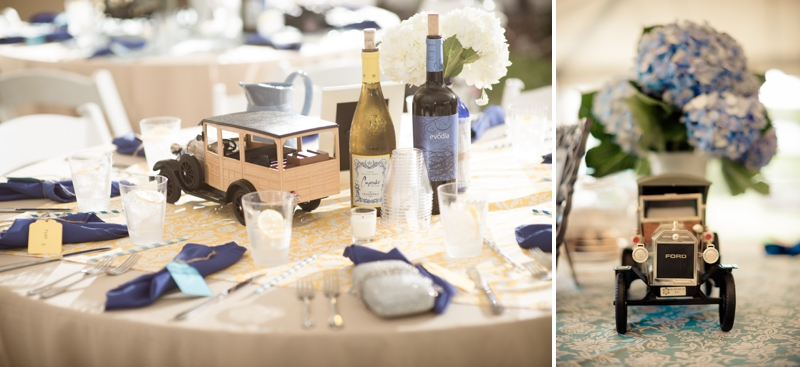 Vintage Blue & Yellow Backyard Wedding via TheELD.com