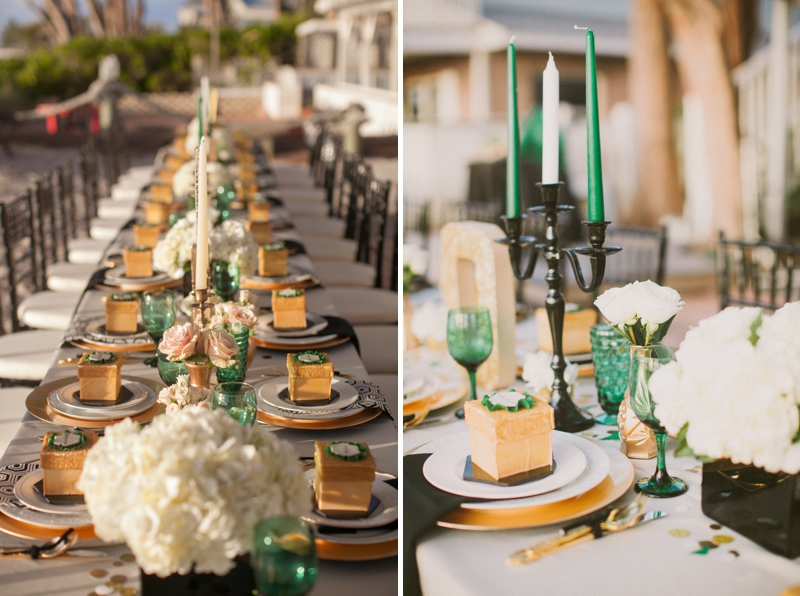 Emerald green gold engagement party inspiration via theeld com