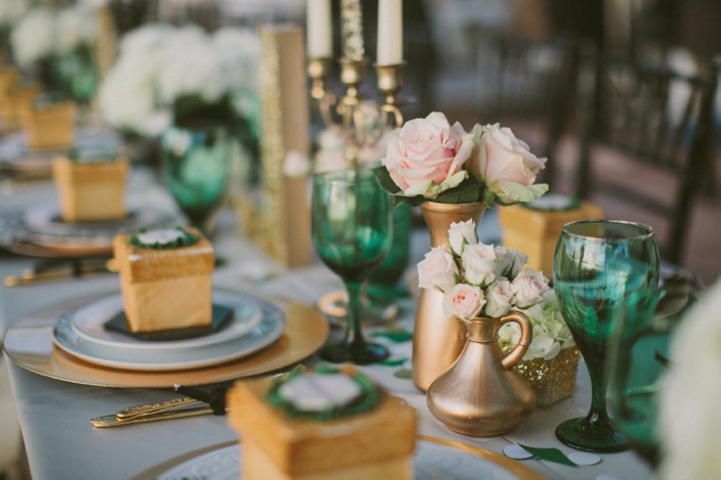 Emerald Green Gold Engagement Party Inspiration Every Last Detail