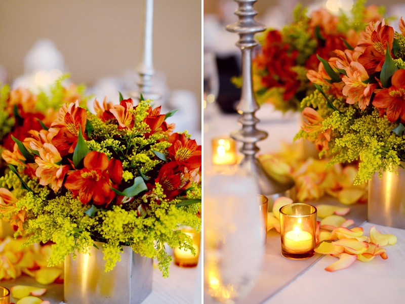 Modern Elegant Orange Florida Wedding via TheELD.com