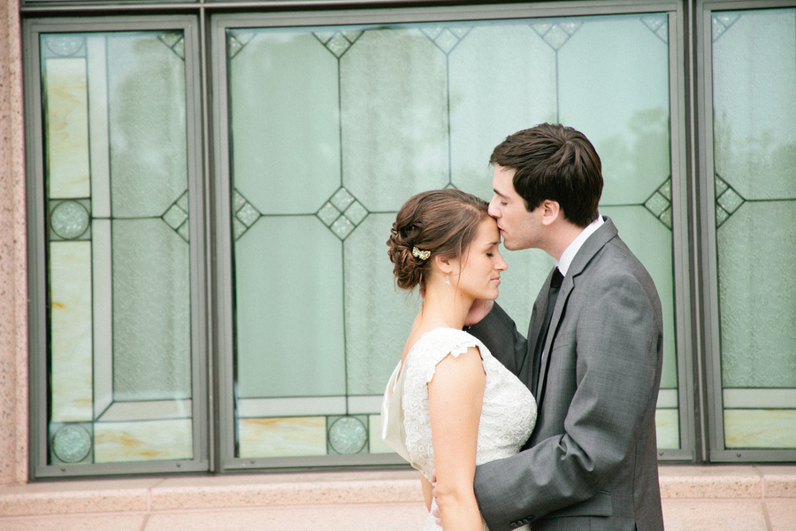 Handcrafted Mint and Peach California Wedding via TheELD.com