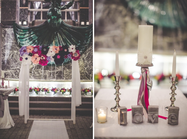 Pink & Purple Modern Eclectic Chicago Wedding via TheELD.com