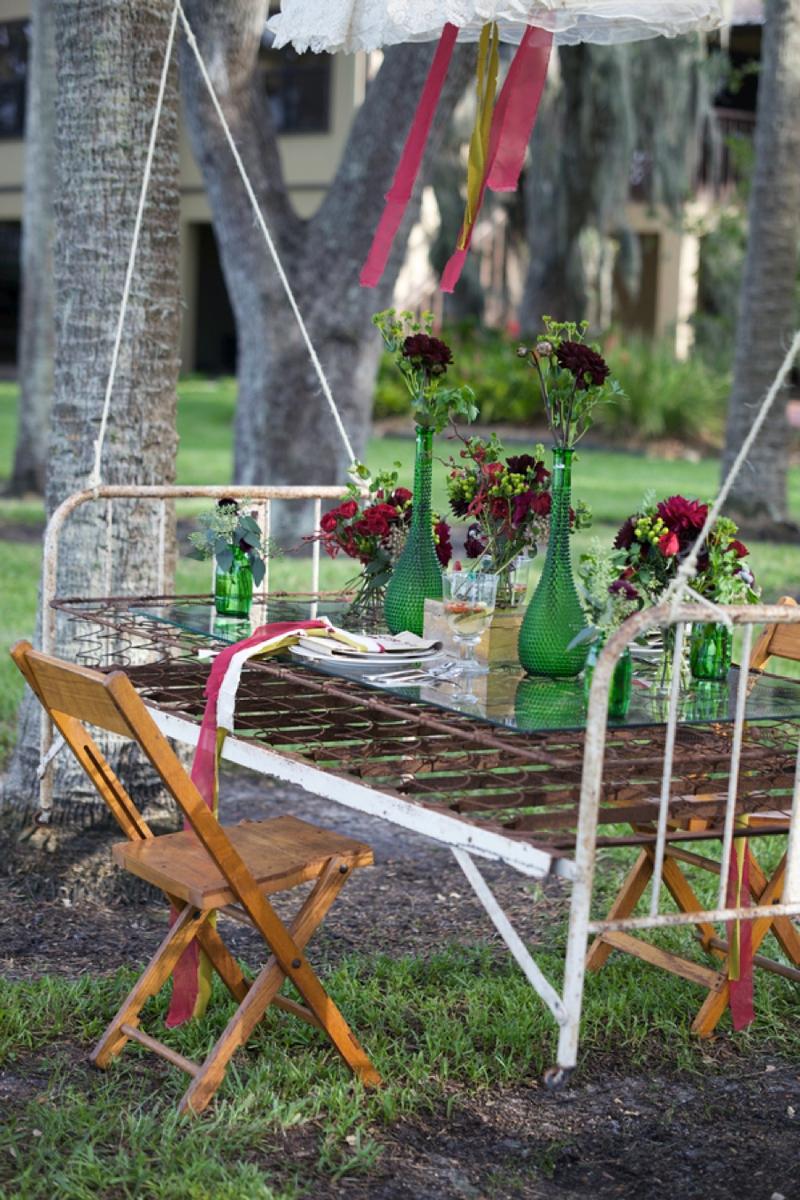 Natural Vintage Pomegranate & Lime Wedding Inspiration via TheELD.com