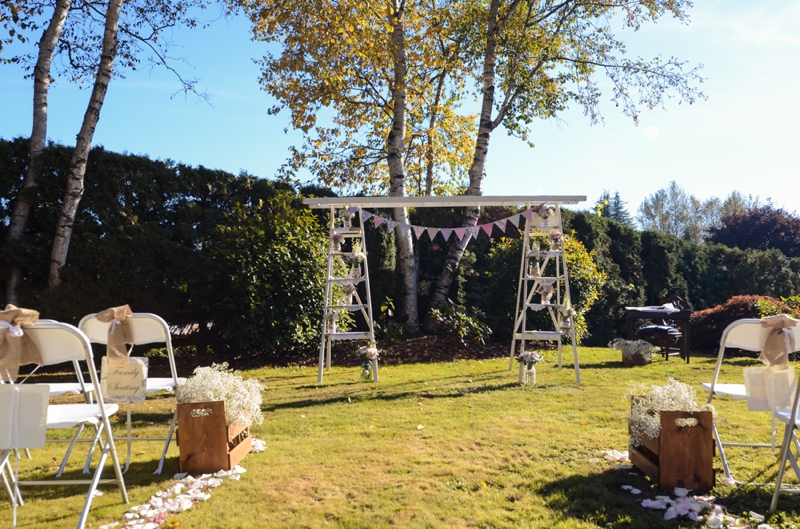 Country Vintage DIY Fort Langley Wedding via TheELD.com