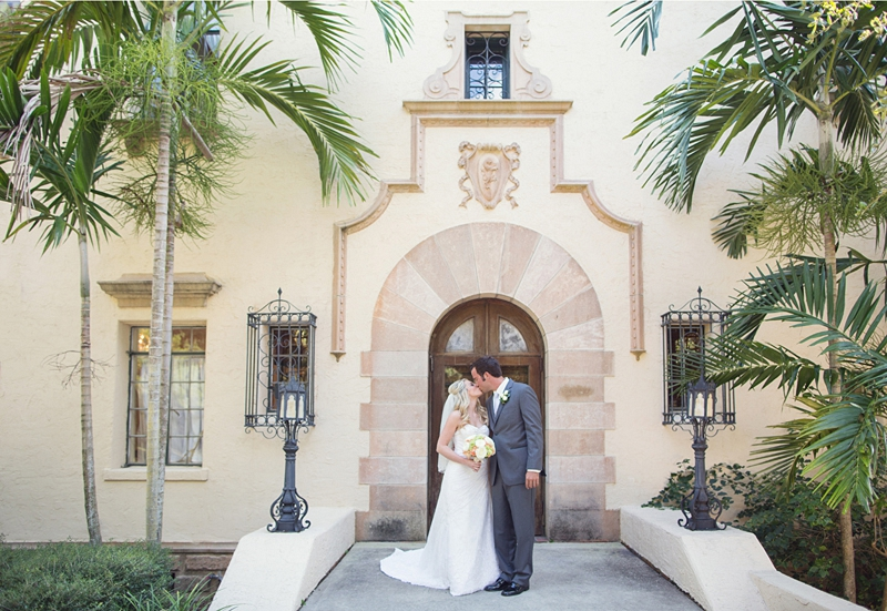 Vintage Peach and White Florida Wedding via TheELD.com
