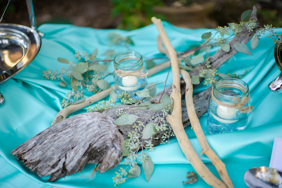 Purple and Aqua Vintage Southern Wedding via TheELD.com