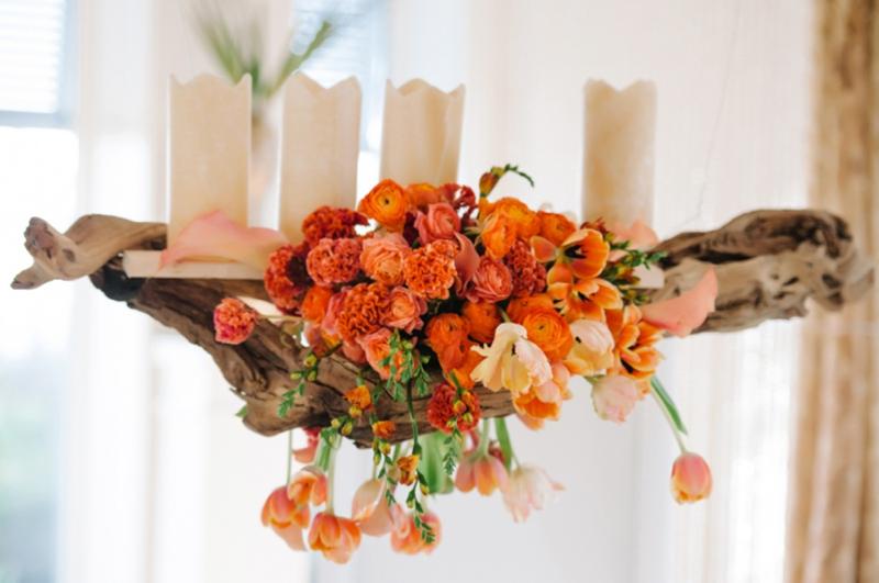 Orange Eclectic Chic Wedding Inspiration via TheELD.com