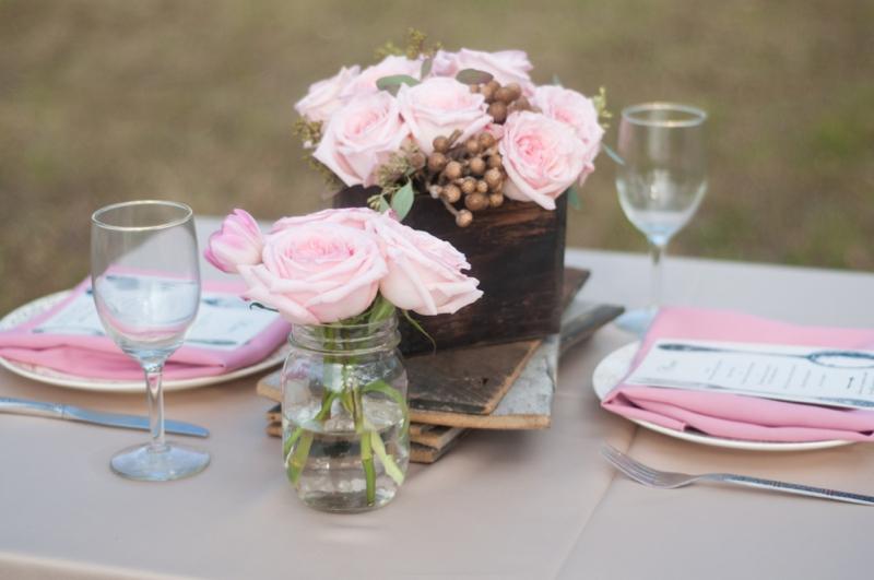Pink Wedding Ideas {Rustic} via TheELD.com