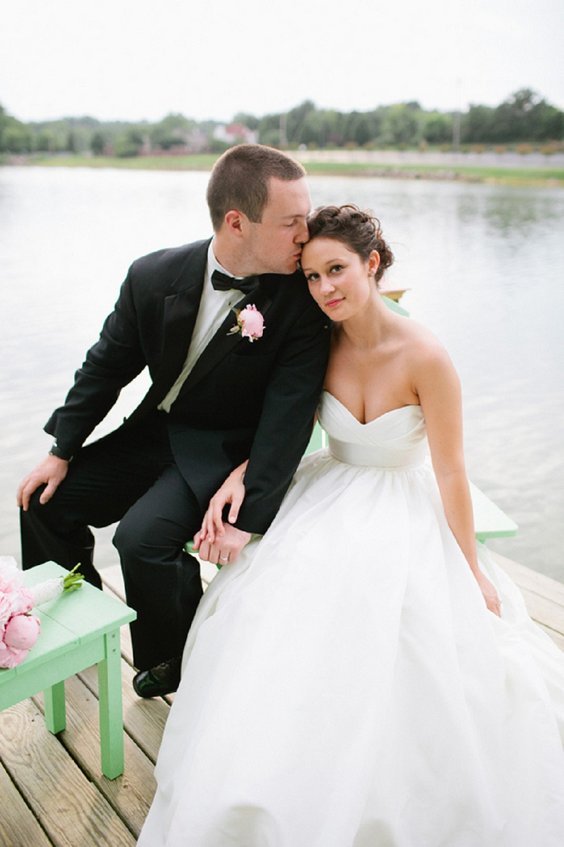Rustic Pink & White Tennessee Wedding via TheELD.com