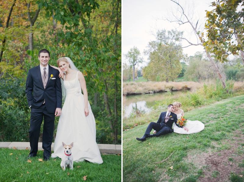 Rustic Yellow and Orange St. Louis Wedding via TheELD.com