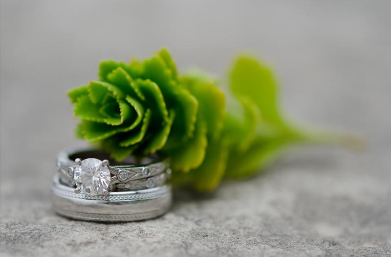 Eclectic Green Nature Inspired Illinois Wedding via TheELD.com